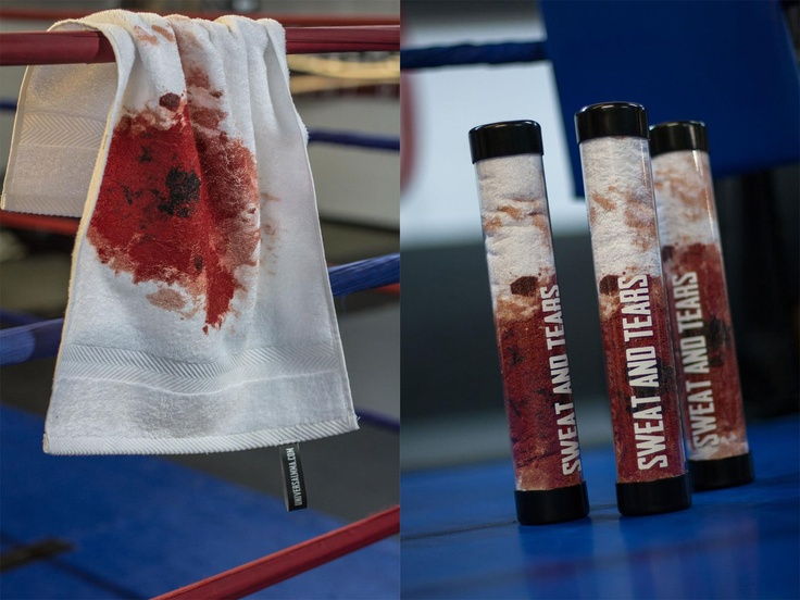 Hardcore towels for Canadian MMA fitness - Sweat and tears #commercials #MarketingCampaigns    Advertising Agency: Station X, Vancouver, Canada  Creative Director: Josh Budd  Art Director: Heather Thrash  Copywriter: Jeff Wasiluk  Print Producer: Julian Davis  Production Designer: Rhoderick Lising  Published: August 2012