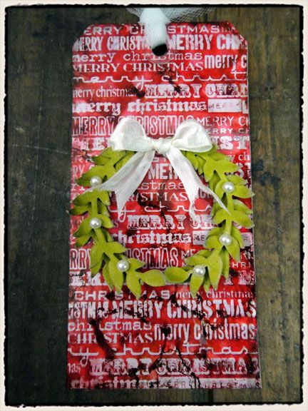 Tim Holtz   2011 - 12 Tags of Christmas - Tag 5    Uses Seasonal Reflections  http://timholtz.com/12-tags-of-christmastag-5/#  DSC01085