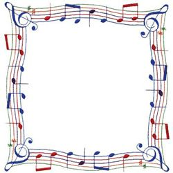 Hobbies Embroidery Design: Music Note Border from Dakota Collectibles