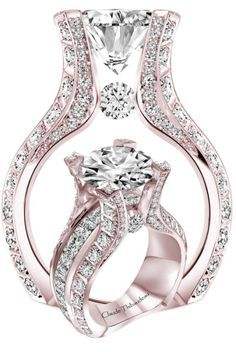 http://rubies.work/0531-sapphire-ring/ Gorgeous!! Love this design. | blush wedding | www.endorajewellery.etsy.com