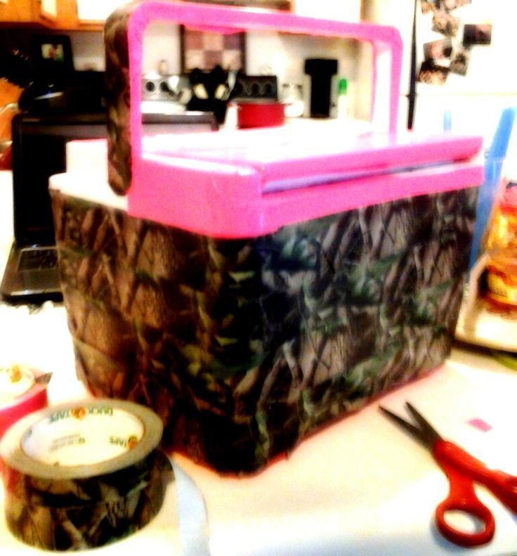camo duct-tape cooler..o fun!!