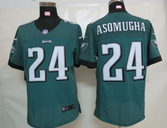 Men's NFL Philadelphia Eagles #24 Asomugha Green Elite Jersey