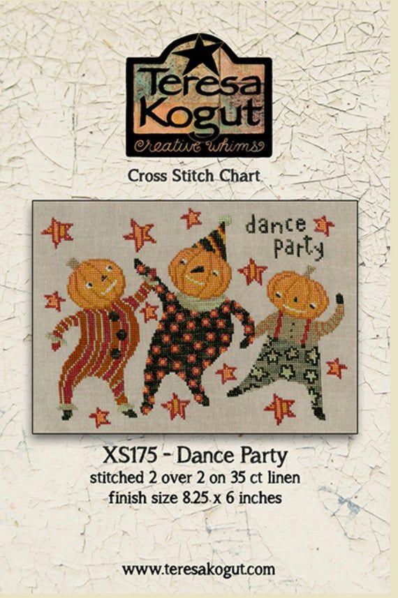 Ct Halloween Dance Party 2020 Halloween Primitive Cross Stitch Chart Needlework DIY   Etsy in