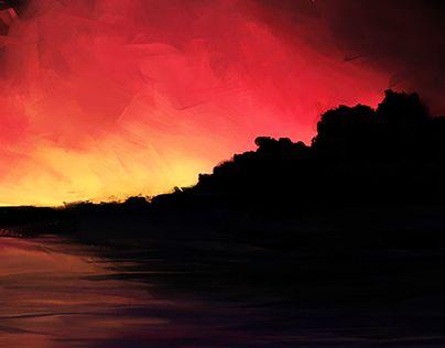"Check out new work on my @Behance portfolio: ""Original Artwork: Stars & Sunrise"" http://on.be.net/1MYiF7b"