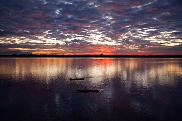 The Magnificent Sunrise Over Mekong River, Laos