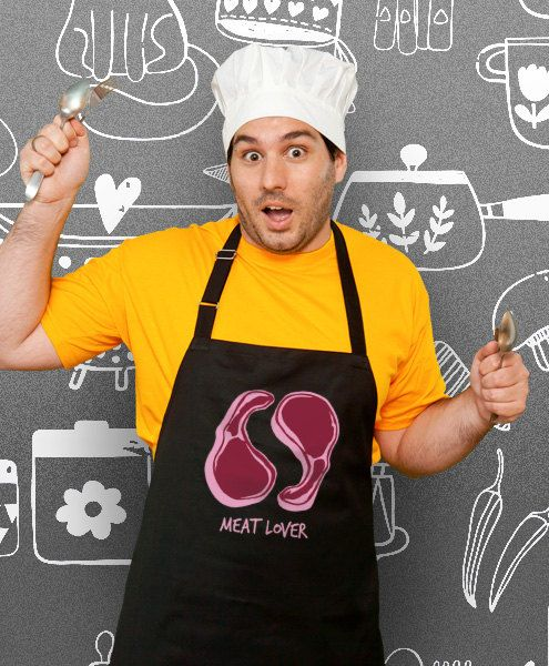 Funny Apron Meat Lover Cooking Apron Husband Gift by store365