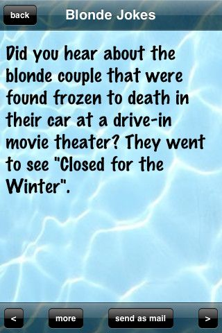 Blonde Jokes | Funny Blonde Jokes for iPhone, iPod touch (2nd generation), iPod touch ...