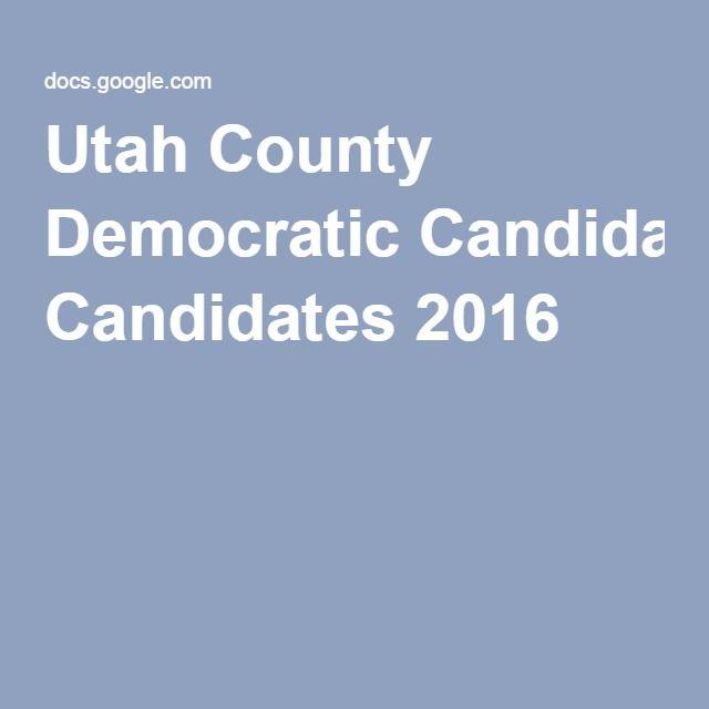 Utah County Democratic Candidates 2016