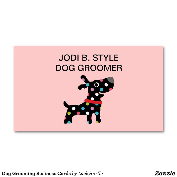 Dog Grooming Business Cards | Dog grooming business, Business cards ...
