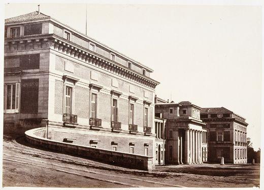 C. Clifford, Vista de la fachada principal del Museo del Prado Museo Nacional del Prado,  1857