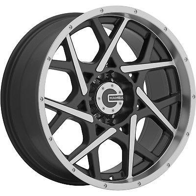 20x9 Machined Black M20 6x5.5 12 Wheels Trail Blade XT LT305/55R20 Tires