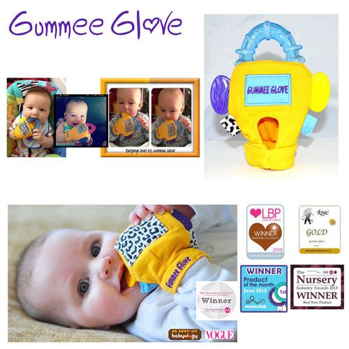 Gummee Glove Teething Mitten for babies - one they can't drop :)
