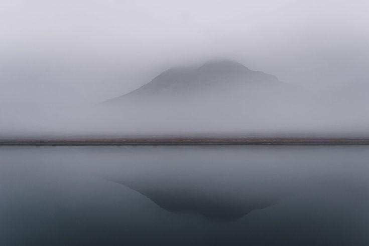 Nebliges Wetter auf Spitzbergen