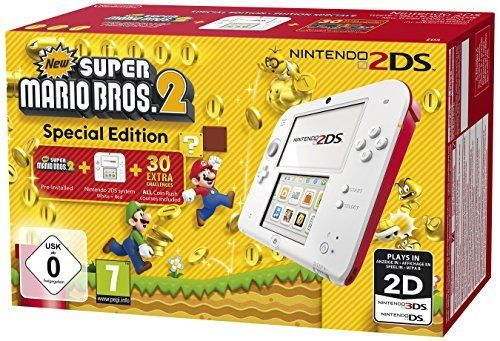 Nintendo 2DS - Konsole (weiß + rot) inkl. New Super Mario Bros. 2 (vorinstalliert): Nintendo 3ds: Amazon.de: Games