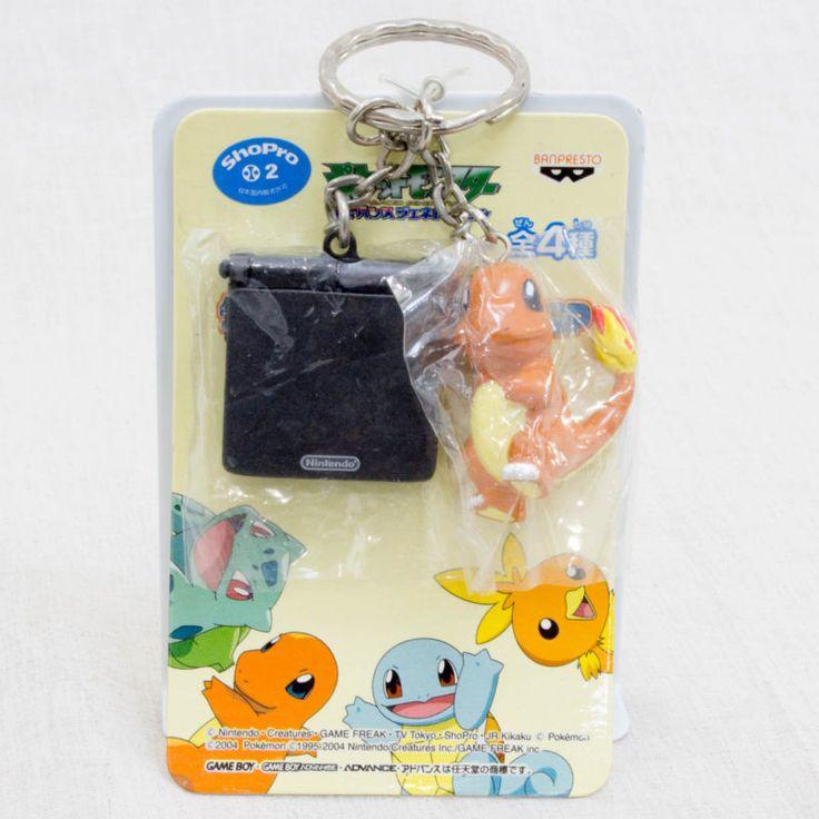 Pokemon Hitokage + Nintendo GAME BOY Advance SP Miniature Figure Key Chain