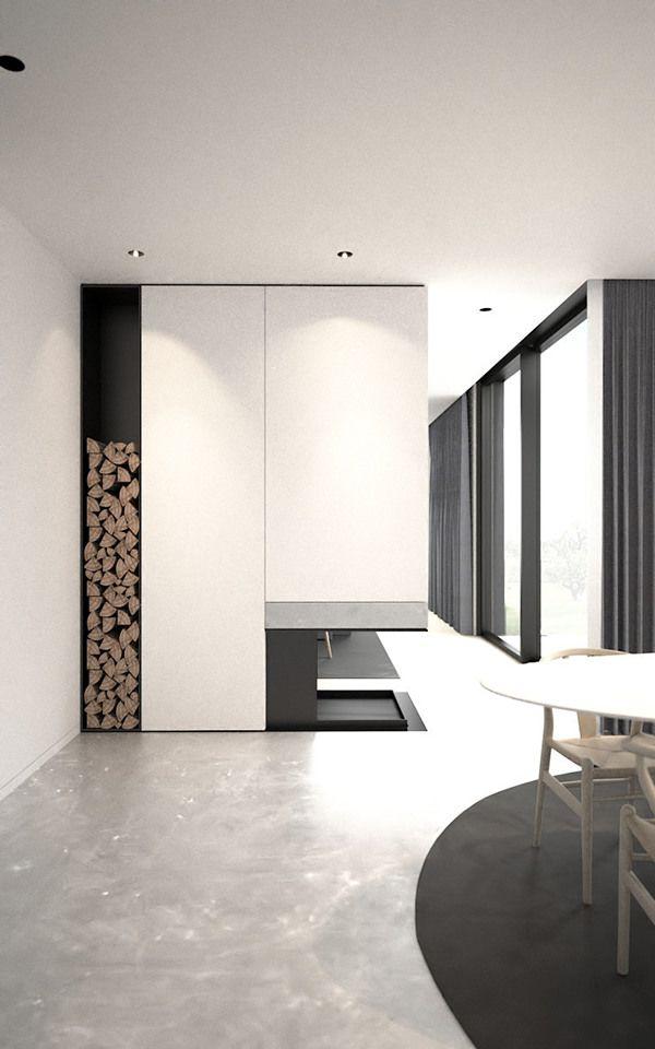 Geometric & modern & graphic fireplace | www.kiem-wayoflife.com