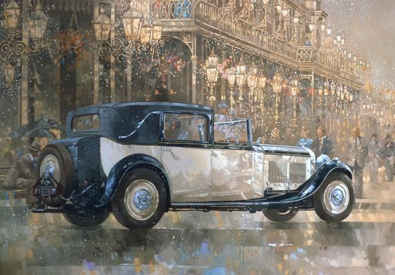 Peter MILLER - Christmas Lights and 8 litre Bentley (20th century), Private Collection.