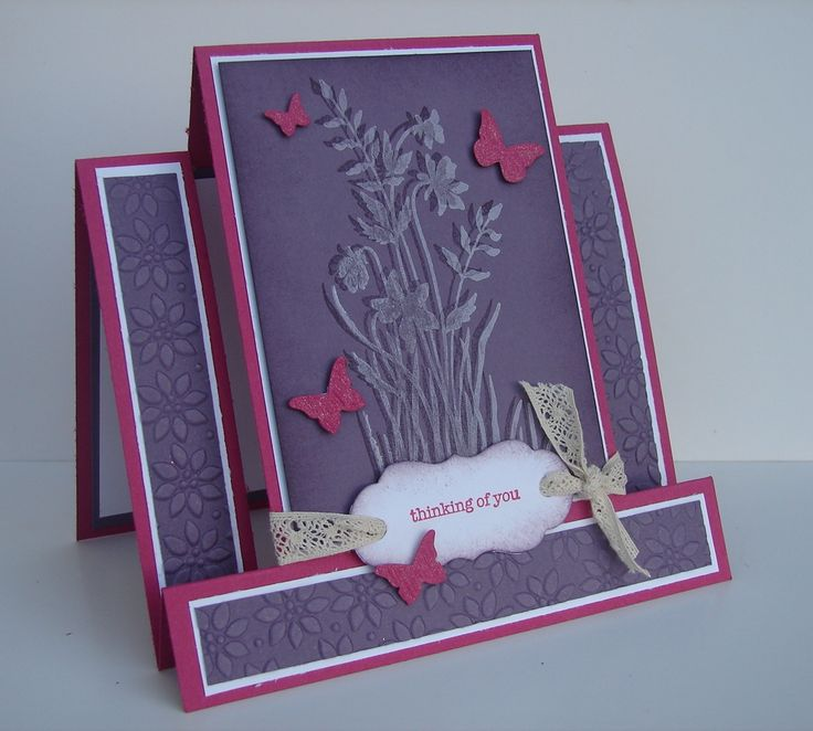 Step card with butterflies