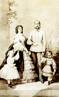 Franz Joseph and Elizabeth of Austria-Hungary with children.