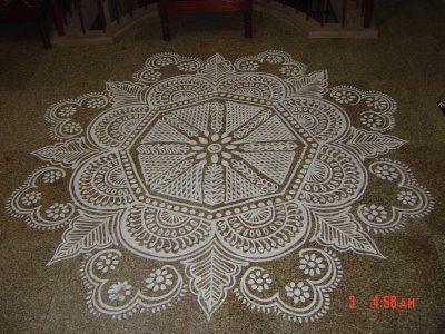 KALAS KOLANGAL: Kolam - The Traditional Floor Drawing of South India