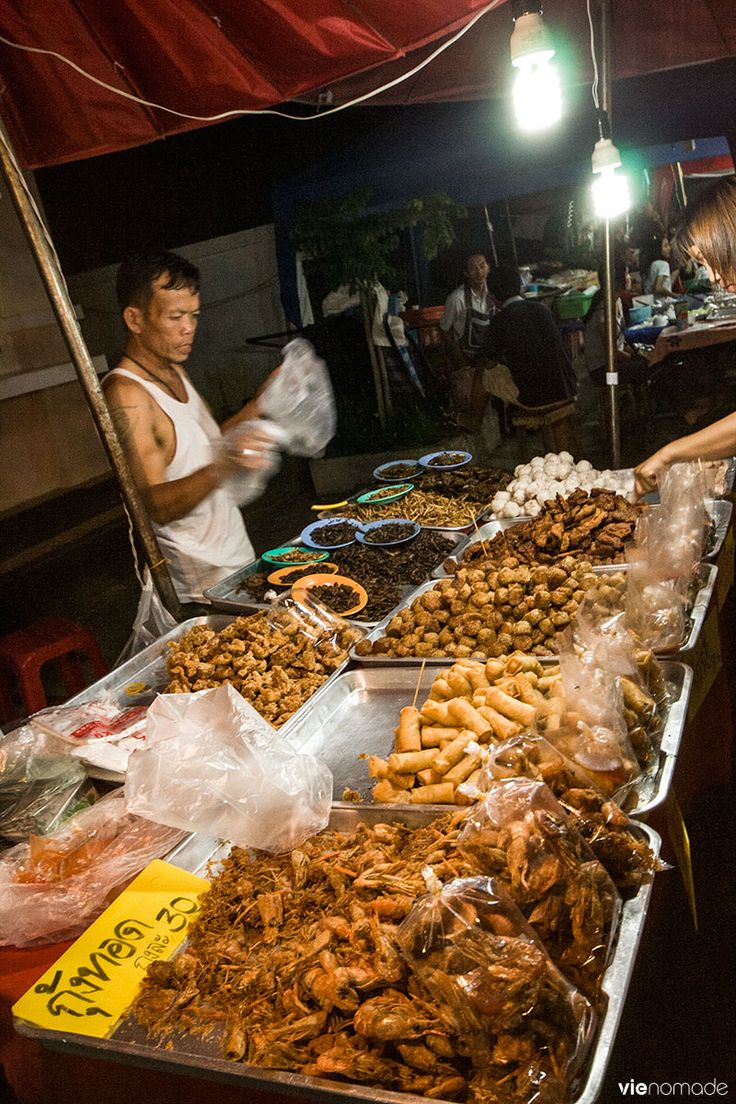 Night Bazaar de Chiang Rai, Thaïlande