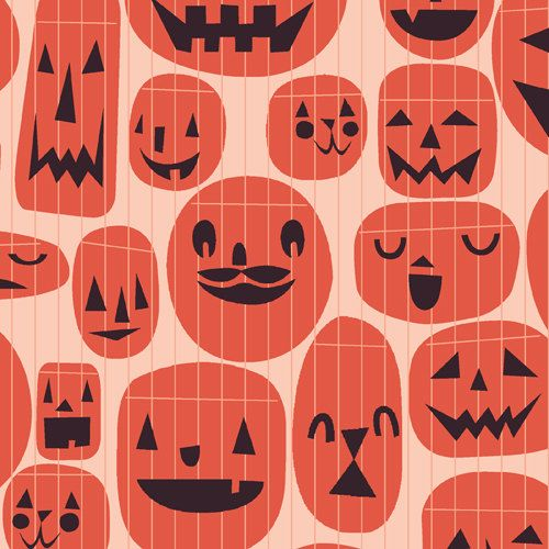 Jack O Lanterns from Guising by Lizzy House  by sewfreshfabrics, $4.90