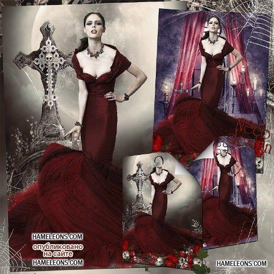 Готическое платье клипарт
