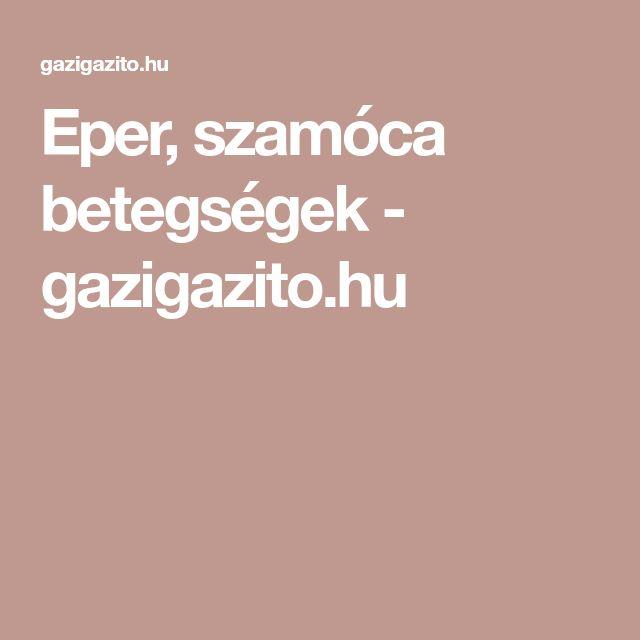 Eper, szamóca betegségek - gazigazito.hu