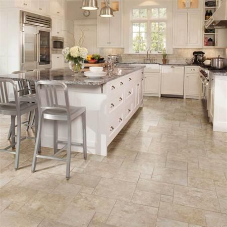 Beige #tile Floor For #kitchen Design. Bordeaux Marron By American Olean.