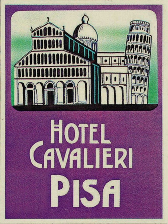 Luggage labels from Pisa! www.italianways.com/pisas-luggage-labels-and-leopardi/
