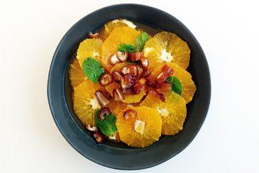 Sweet Orange, Date & Mint Salad