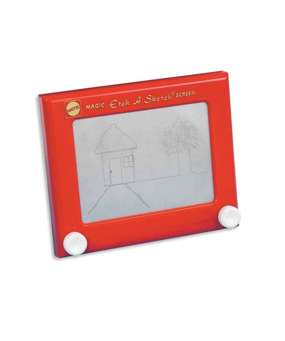 Etch A Sketch  Debuted: 1959 Perfect gift for the mum and dad to be! Authentic to the fathers year of birth and a great treasure for bub!