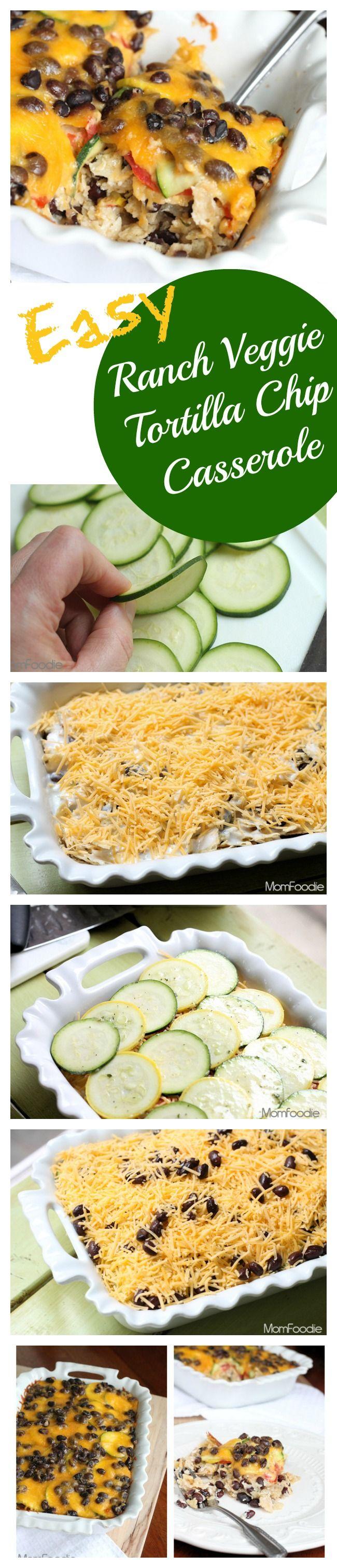 Ranch Black Bean & Veggie Tortilla Casserole Recipe