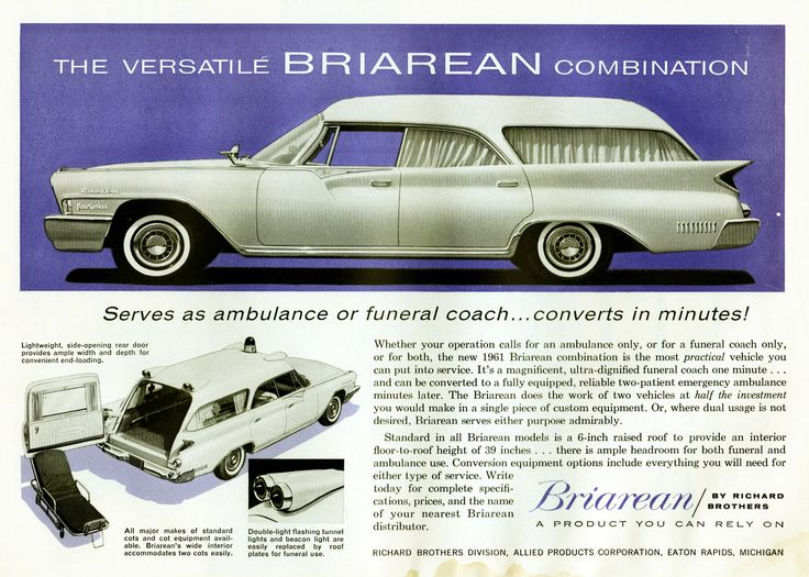 1961 Chrysler New Yorker Briarean Ambulance / Hearse Combination by Richard Brothers AD