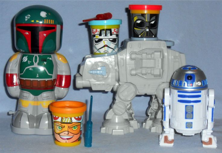 Disney - Star Wars Boba Fett Tin Wind-Up Hasbro - Star Wars Play-Doh Can Heads AT-AT Attack Hasbro - Star Wars Bop It! R2-D2