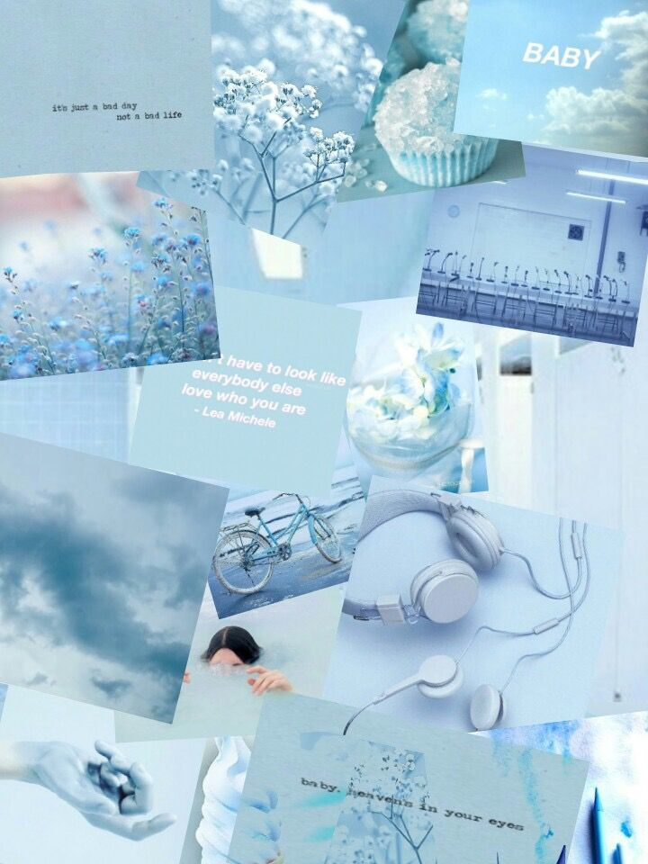 Aesthetic Pastel Blue Aesthetic Light Blue Iphone Wallpaper