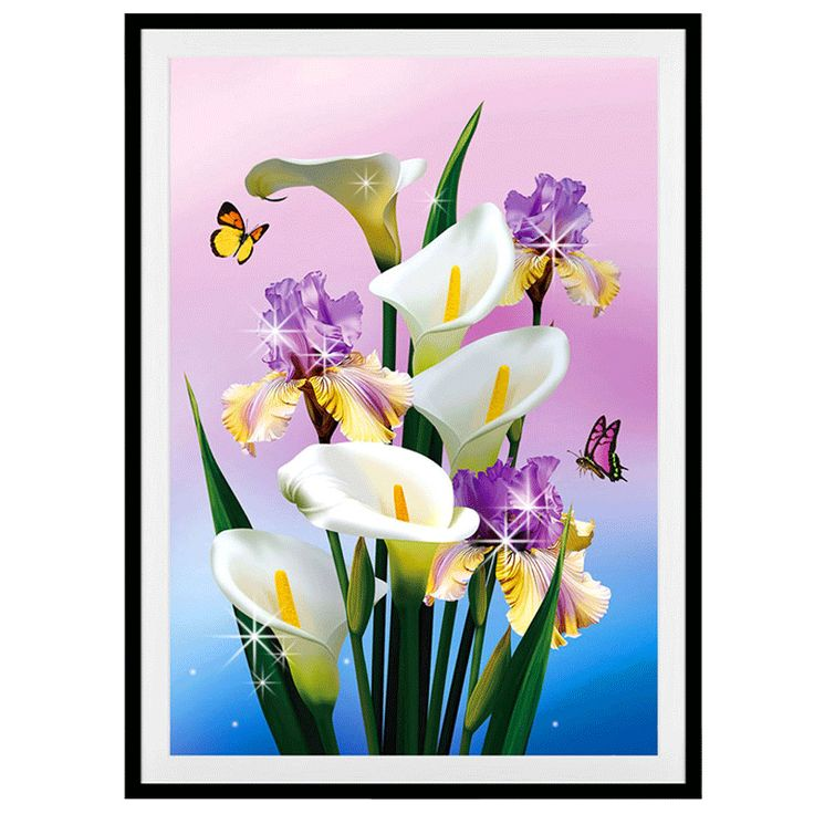 Different Size of diamond embroidery Calla lily Flowers picture diamond painting cross stitch Home decoration mosaic pattern  #Affiliate