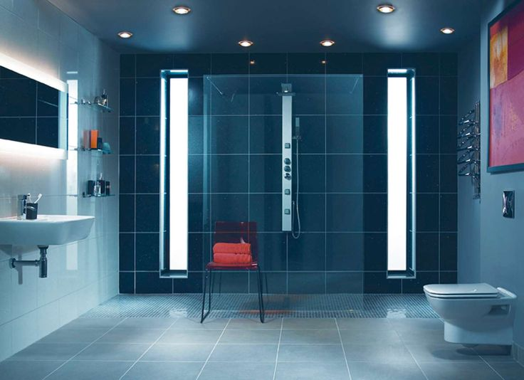 103 best images about interesting interiors on pinterest for Small ensuite wet room ideas