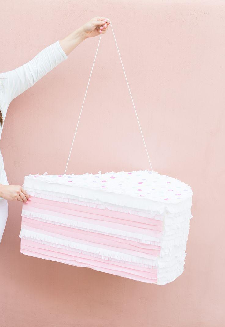 DIY SPRINKLE CAKE PINATA