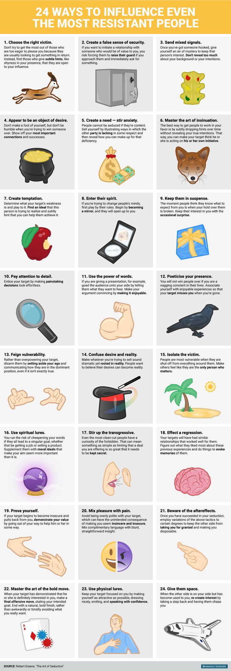 BI_Graphic_24 Ways to Influence Even the Most Resistant People. ~ WOW! So many possibilities :)