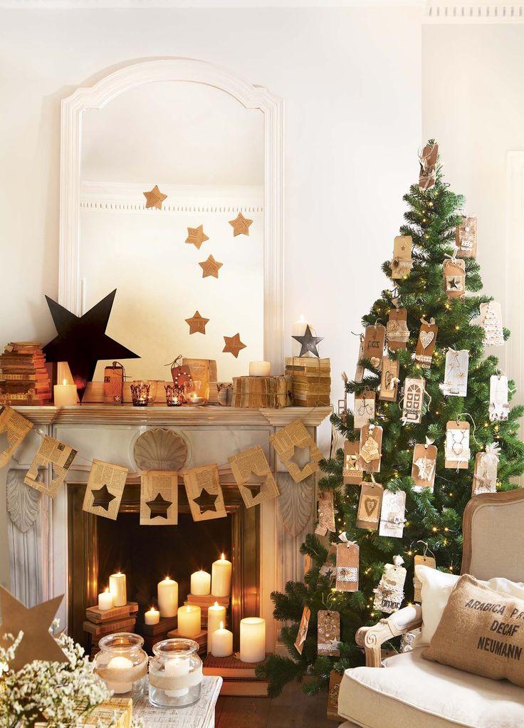 M s de 25 ideas incre bles sobre navidad r stica en for Decoraciones rusticas para navidad
