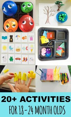 20+ Learning activities for toddlers