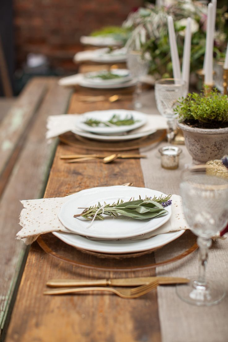 #Rustic Elegance Place Setting | See the Inspiration on #SMP Weddings: http://www.stylemepretty.com/little-black-book-blog/2013/12/11/french-farmhouse-inspired-wedding-inspiration-in-spokane-washington/  Urban Rose Photo