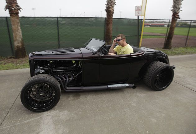 Hot rodRoy Halladay, Street Rods, Hotrod Lifestyle, Celebrities Supercars, Celebrities Sports, Black Carsmurderedout, Sweets Riding, Halladay Ford, Hot Rods