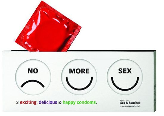 Condom Packaging... Reveal Faces as Used