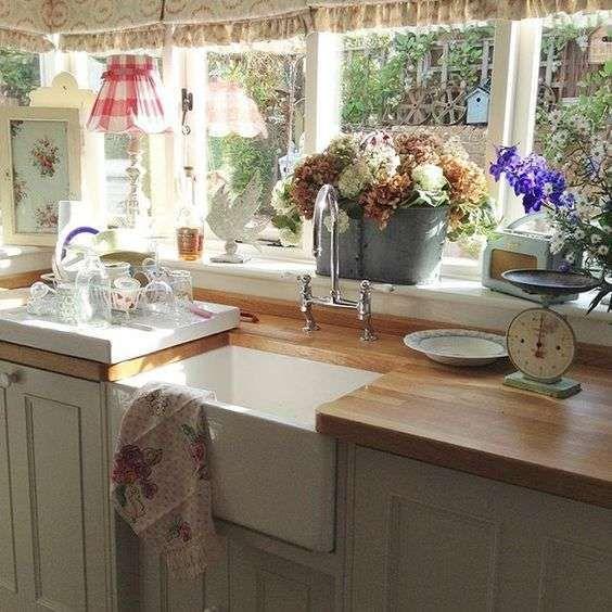 163 migliori immagini cucine kitchens su pinterest for Piani di una casa in stile cottage