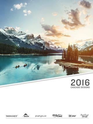 Cascade Designs 2016  Vybavení pro kempink - vařiče, nádobí a stany MSR, karimatky Thermarest, vodní filtry a láhve Platypus, vodotěsné vaky a brašny SealLine.
