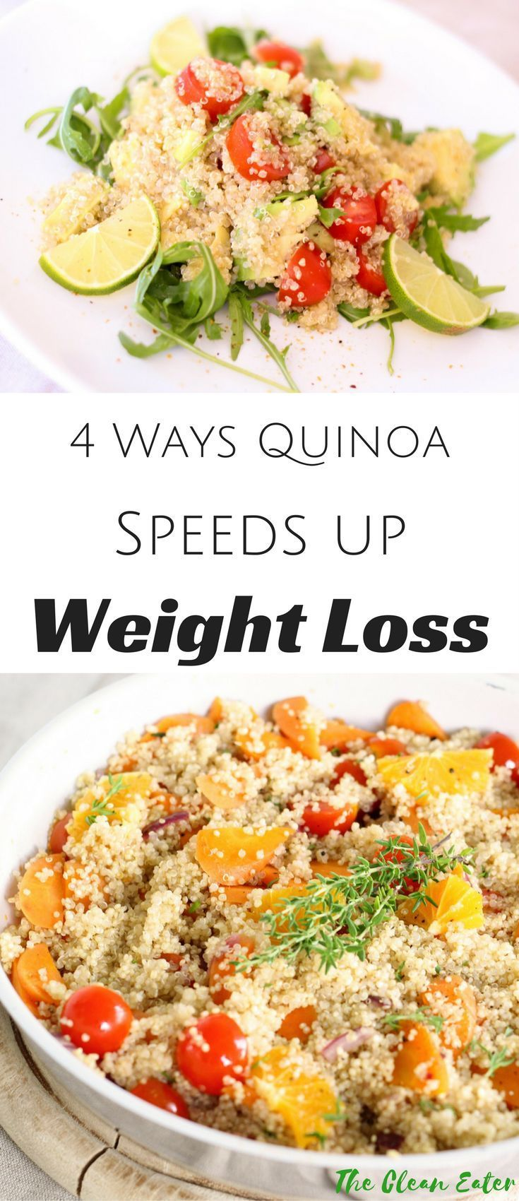 Quinoa offers various health benefits and weight loss is one of them! Learn how quinoa can speed up your weight loss process! |weight loss| healthy diet| clean eating| thecleaneater.com