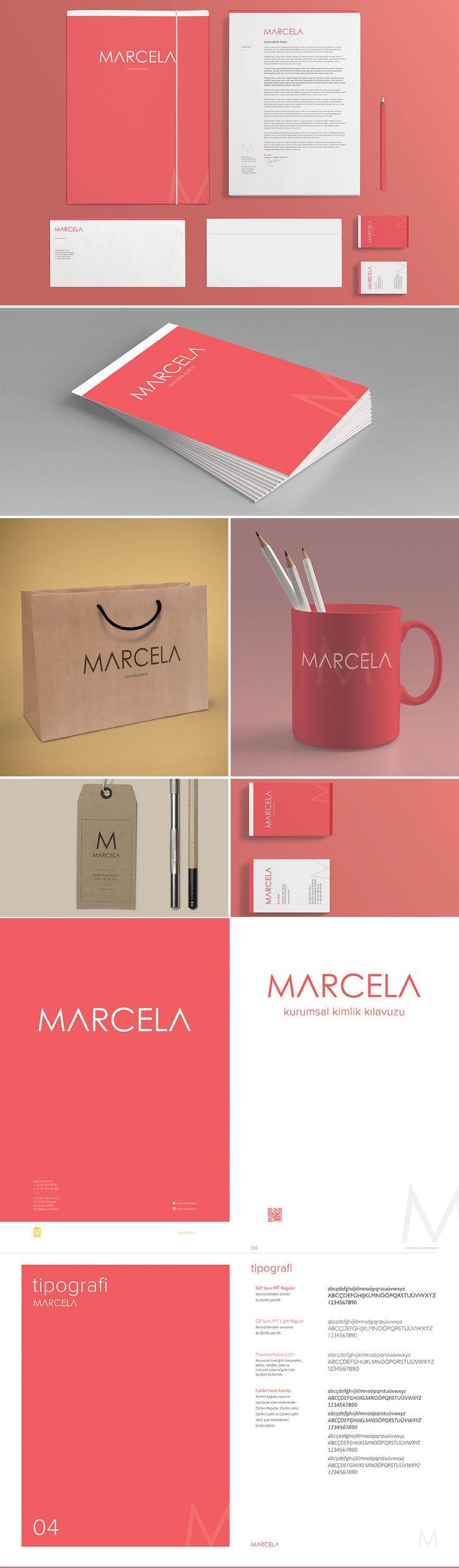 Marcela Tekstil için yapmış olduğum kurumsal kimlik çalışması. Corporate Identity for Marcela Tekstil. #creative #corporate #identity #ID #graphic #design #kurumsal #kimlik #Marcela  Who is Marcela: marcela.com.tr