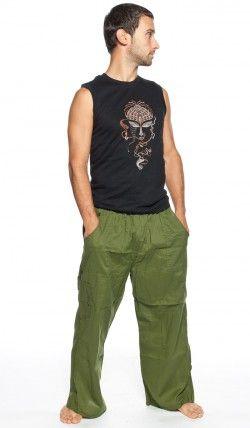 Штаны для йоги мужские, индийская одежда, этнические штаны, Индия. Yoga pants for men, Indian clothes, ethnic pants, India. 1320 рублей